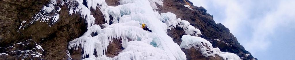 cascata ghiaccio uscita singola